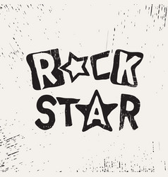 Rock star grunge text vector
