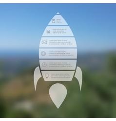 Rocket line infographic vector