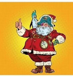 Santa Claus pirate thumb up vector image vector image