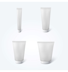 Set of 4 blank cosmetic tubes vector