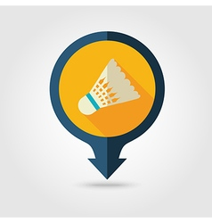 Shuttlecock badminton sport pin map icon vacation vector