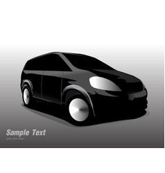 side black sports car vector image