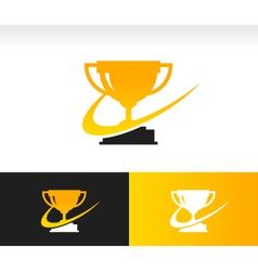 Swoosh Trophy Logo Icon vector image
