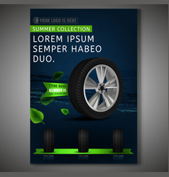 Tyre poster image vector