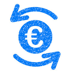 update euro balance grunge icon vector image vector image