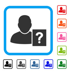 user status question framed icon vector image