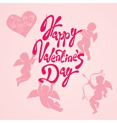valentine day calligr 4 380 vector image vector image