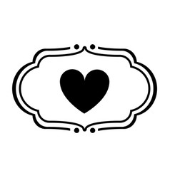 Vintage heart label love valentines day related vector