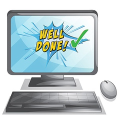 Well done vector image vector image