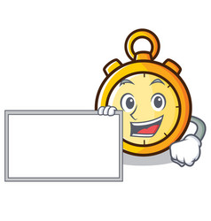 With board chronometer character cartoon style vector