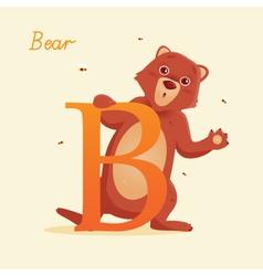B for Bear vector image