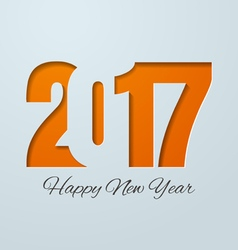 Happy new year 2017 cut paper background vector