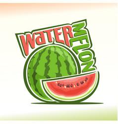 Watermelon still life vector