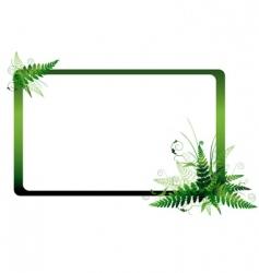 fern frame vector image