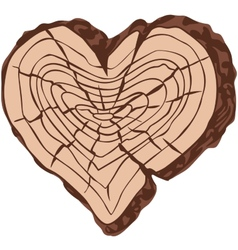 Timber heart vector