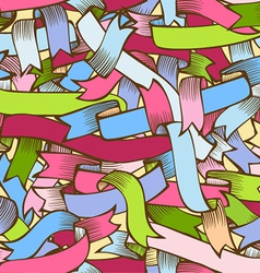 Colorful ribbons seamless pattern vector