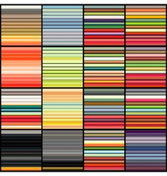 Striped tube patterns in rainbow color over black vector