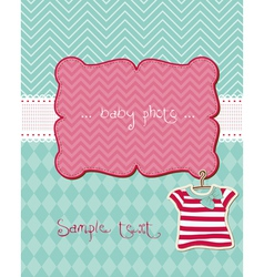 greeting baby card - with place for your photo and vector image