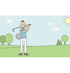 Golf player man vector