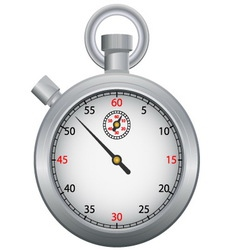 stopwatch time icon vector image