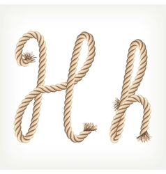 Rope alphabet Letter H vector image