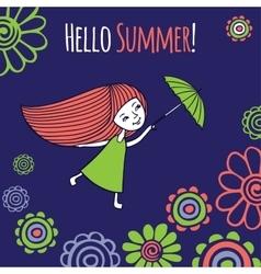 Card hello summer vector