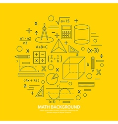Math icon background vector