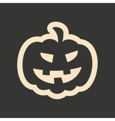 Flat in black and white mobile application pumpkin vector