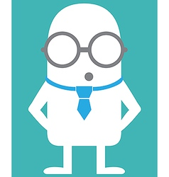 Animated personality intellectual vector image vector image