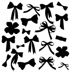 Black and white silhouette image of bow set vector image