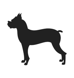 Boxer dog black silhouette vector