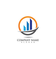 business finance logo and symbols concept vector image vector image