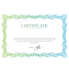 Certificate template that is used in currency and vector image vector image