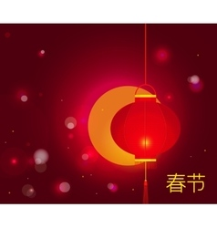 Chinese New Year background with characters Spring vector image vector image