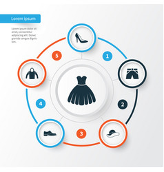 Clothes icons set collection of sweatshirt vector