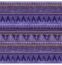 Dark color tribal navajo seamless pattern aztec vector
