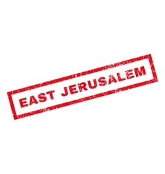 East jerusalem rubber stamp vector