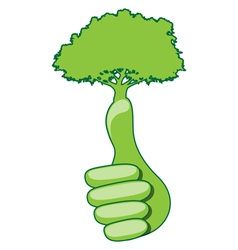 Eco hand vector image vector image