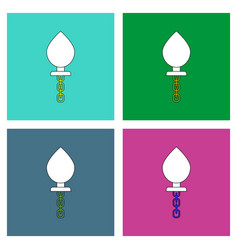 flat icon design collection sex toy vector image