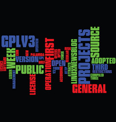 Gplv attracts projects in first week text vector