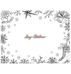 Hand drawn set of lovely merry christmas items fra vector