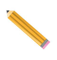 Isolted wooden pencil vector