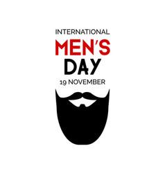 mens day minimalistic greeting card vector image vector image