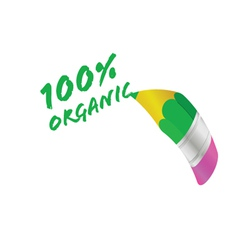organic pencil vector image