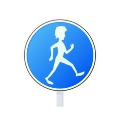 Pedestrian road sign icon cartoon style vector image