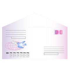 postal envelope vector image vector image