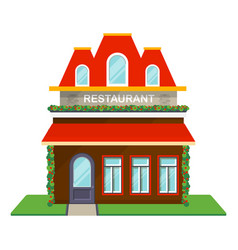 Restaurant facade isolated icon vector