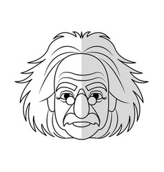 scientist man cartoon icon vector image