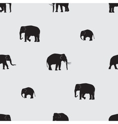 Shadow elephants seamless pattern eps10 vector