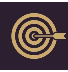 The target icon Target symbol Flat vector image